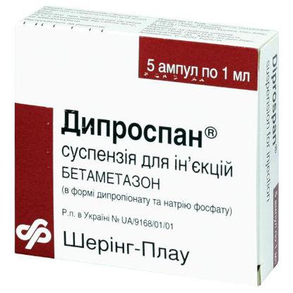 Фото Дипроспан суспензия для инъекций ампула 1мл №5