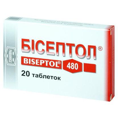 Фото Бисептол таблетки 400 мг/80 мг №20
