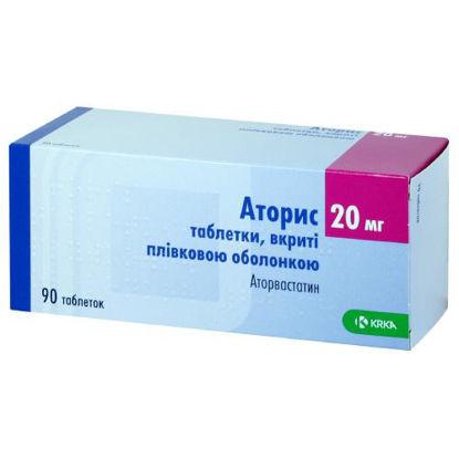 Фото Аторис таблетки 20 мг №90.