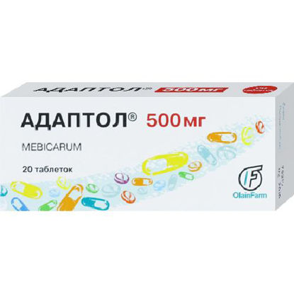 Світлина Адаптол таблетки 500 мг №20