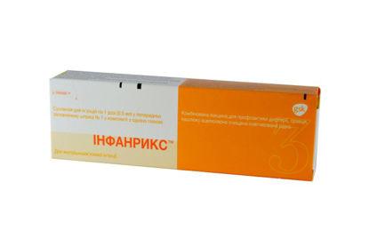 Фото Инфанрикс вакцина для профилактики дифтирии, столбняка и коклюша 0,5 мл шприц