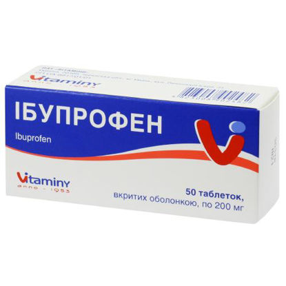 Світлина Ібупрофен таблетки 0.2 г №50 Ви