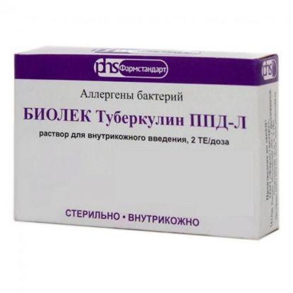 """Світлина БИОЛЕК Туберкулин ППД-Л розчин для ін""""єкцій 2 ТО/доза 0.6 мл 3 шприци"""