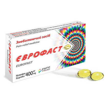 Світлина Єврофаст капсули 400 мг №20